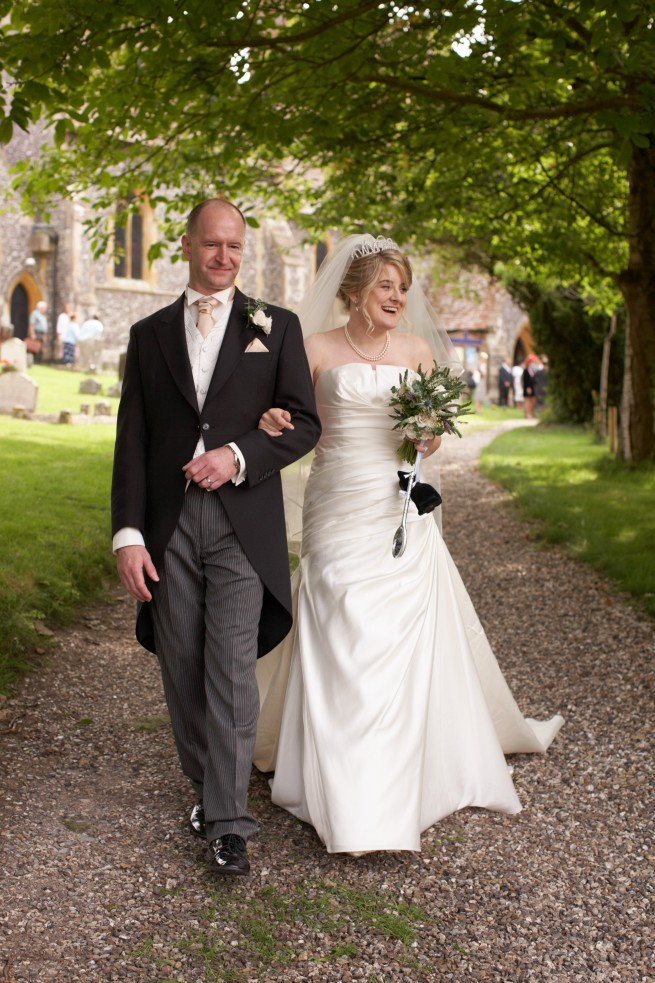 The wedding of Alison and Duncan in Bradfield on 4 September 2010