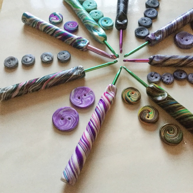 crochet hooks made with Kuritumi
